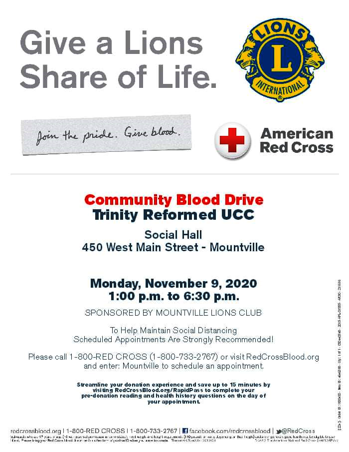 Mountville Lions Club Community Blood Drive